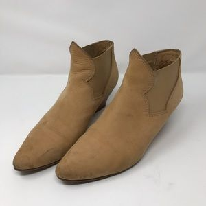 Tan suede ACNE boots size 41